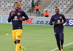 Wiseman Meyiwa and Bongolethu Jayiya in the Absa Premiership match between Cape Town City and Kaizer Chiefs, Cape Town Stadium, 13 September 2017.
