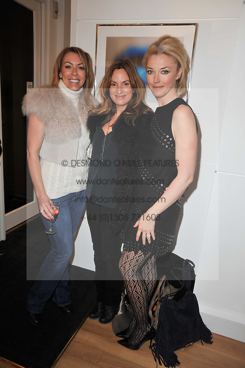 Left to right, GRAINNE STEVENSON, EMILY OPPENHEIMER-TURNER and TAMARA BECKWITH at a party to launch Alistair Taylor-Young's new book 'The Phone Book' held at The Little Black Gallery, 13A Park Walk, London SW10 on 18th January 2011.
