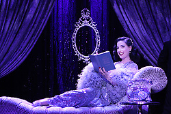 """EXCLUSIVE: Burlesque Artist Dita Von Teese will begin the West Coast run of her show """"The Art of the Teese"""" next week in San Diego, but in these just approved images from her tour back in February while in NYC for five nights at the Gramercy Theatre, she exudes glamour. She debuted brand new costumes for the two new acts she added to the show. The first was her """"Black Swan"""" costume designed by long time collaborator Catherine D'Lish & the second was a custom Jenny Packham gown for her act called """"Lazy"""". Also included are her famous""""Martini Glass"""" act as well as her """"Rhinestone Cowgirl"""". This leg of the show runs through the end of July. 29 Jun 2017 Pictured: Dita Von Teese. Photo credit: Jennifer Mitchell / MEGA TheMegaAgency.com +1 888 505 6342"""