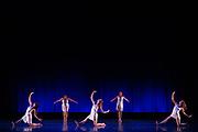 Santa Clara University Department of Theatre & Dance students perform Choreographers' Gallery during a dress rehearsal at Santa Clara University in Santa Clara, California, on November 28, 2017. (Stan Olszewski/SOSKIphoto)
