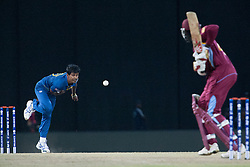 © Licensed to London News Pictures. 07/10/2012. Sri Lankan Nuwan Kulasekara bowling during the World T20 Cricket Mens Final match between Sri Lanka Vs West Indies at the R Premadasa International Cricket Stadium, Colombo. Photo credit : Asanka Brendon Ratnayake/LNP
