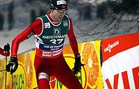 Kombinert , 9. juni 2010<br />  VAL DI FIEMME, ITALIEN,09.JAN.10 - SKI NORDISCH, NORDISCHE KOMBINATION, LANGLAUFEN - FIS Weltcup. Bild zeigt Magnus H Moan (NOR). <br /> Norway only