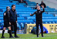 Luton Town manager Nathan Jones shouts instructions to his team from the technical area<br /> <br /> Photographer Alex Dodd/CameraSport<br /> <br /> The EFL Sky Bet Championship - Leeds United v Luton Town - Tuesday 30th June 2020 - Elland Road - Leeds<br /> <br /> World Copyright © 2020 CameraSport. All rights reserved. 43 Linden Ave. Countesthorpe. Leicester. England. LE8 5PG - Tel: +44 (0) 116 277 4147 - admin@camerasport.com - www.camerasport.com