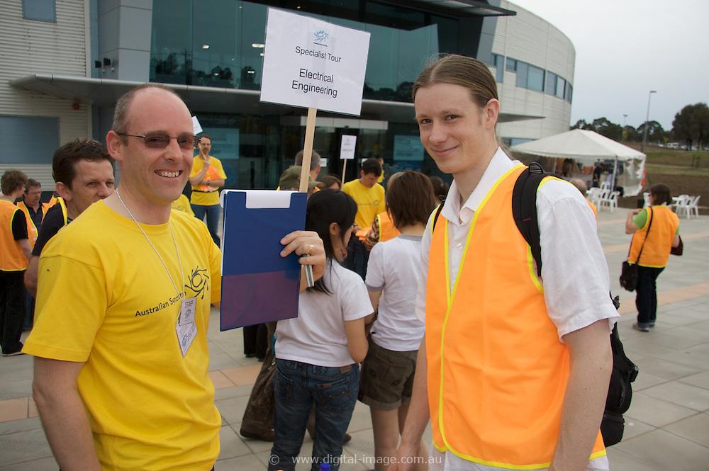 Australian Synchrotron Open Day 2008, Niel Meadowcroft with Greg Breese, a teacher at Glen Waverly Secondary College.