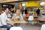 Lakeside Food Court, Couple at Rhythm Kitchen, Thai Express, Wide Shot 4