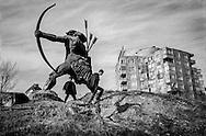 Statue of Haik, founder of Armenia. Yerevan. 2003