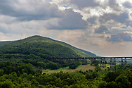 Town of Cornwall, New York - A view of the Moodna Viaduct and Schunnemunk Mountain on Aug. 2, 2019.