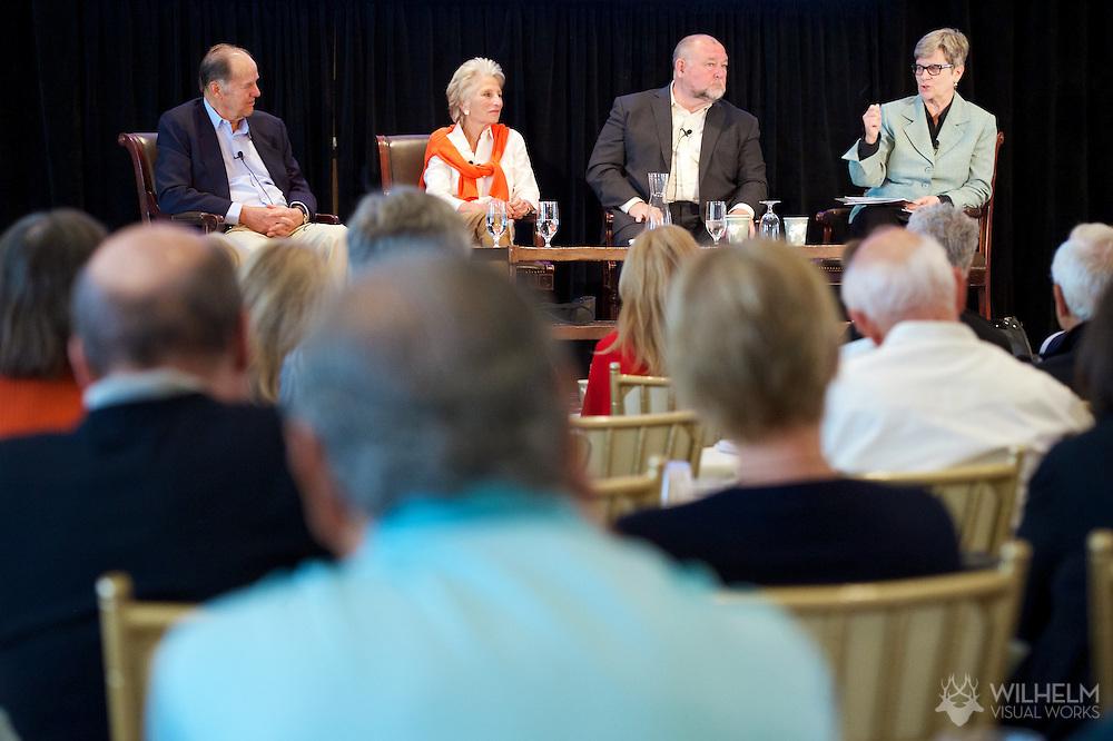"Thad Allen of Booz Allen Hamilton speaks on the ""In Depth: Ten Years After 9/11 Commission Report, Are We Safe?"" panel at the 2014 Aspen Ideas Festival in Aspen, CO. ©Brett Wilhelm"