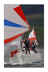 Yachting- The first days inshore racing  of the Bell Lawrie Scottish series 2003 at Tarbert Loch Fyne.  Light shifty winds dominated the racing...GBR9156Y Odyssey Sigma 33 helmed by Dougie Watson...Pics Marc Turner / PFM