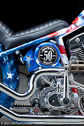 Rick Fairless's S&S 124 Custom Chopper. Photographed by Michael Lichter in Sturgis, SD. August 7, 2021. ©2021 Michael Lichter