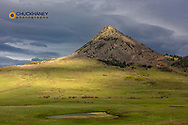Late afternoon light on Haystack Butte near Augusta, Montana, USA
