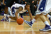 FORT WORTH, TX - JANUARY 7: Charles Hill Jr. #0 of the TCU Horned Frogs dives for a lose ball against the Kansas State Wildcats on January 7, 2014 at Daniel-Meyer Coliseum in Fort Worth, Texas.  (Photo by Cooper Neill/Getty Images) *** Local Caption *** Charles Hill Jr.