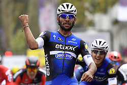 October 9, 2016 - Tours, FRANCE - TOURS, FRANCE - OCTOBER 9 : winner GAVIRIA RENDON Fernando (COL) Rider of ETIXX - QUICK STEP pictured during the podium ceremony of the 110th edition of the Paris-Tours cycling race with start in Dreux and finish in Tours on October 09, 2016 in Tours, France, 9/10/2016 (Credit Image: © Panoramic via ZUMA Press)