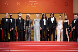 Jim Jarmush, Bill Murray, Chloe Sevigny, Tilda Swinton, Selena Gomez, Sara Driver, Carter Logan, Joshua Strachan attending the opening ceremony and premiere of The Dead Don't Die, during the 72nd Cannes Film Festival.