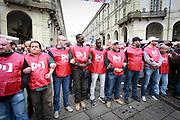 Il servizio d'ordine partito democratico al corteo del primo maggio a Torino