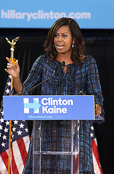 September 29, 2016 - Philadelphia, PA, United States - LUS First Lady Michelle Obama speaks for Democratic Presidential nominee Hillary Clinton at Lasalle University on September 28, 2016 in Philadelphia, Pennsylvania  (Credit Image: © William T Wade Jr/Ace Pictures via ZUMA Press)