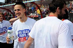 16-05-2010 VOETBAL: FC UTRECHT - RODA JC: UTRECHT<br /> FC Utrecht verslaat Roda in de finale van de Play-offs met 4-1 en gaat Europa in / Ricky van Wolfswinkel en Jacob Lenski<br /> ©2010-WWW.FOTOHOOGENDOORN.NL