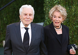 Kirk Douglas Dies At 103 - Kirk Douglas and wife Anne Buydens attend the 2013 Vanity Fair Oscar Party held at the Sunset Tower Hotel in West Hollywood, Los Angeles, CA, USA on February 24, 2013. Photo by Krista Kennell/ABACAPRESS.COM