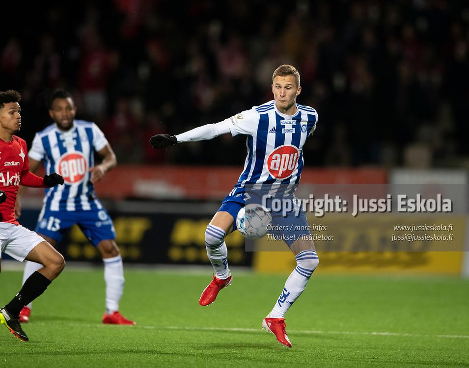 Santeri Hostikka. HJK - HIFK. Veikkausliiga 22.9.2021. Photo: Jussi Eskola