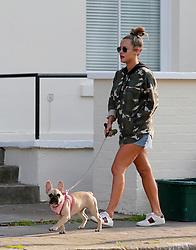 Caroline Flack walks her pet dog near her North London home in September 2018. <br /><br />15 February 2020.<br /><br />Please byline: Headlinephoto/Vantagenews.com