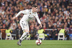 March 2, 2019 - Madrid, Madrid, Spain - Federico Valverde (midfielder; Real Madrid) in action during La Liga match between Real Madrid and FC Barcelona at Santiago Bernabeu Stadium on March 3, 2019 in Madrid, Spain (Credit Image: © Jack Abuin/ZUMA Wire)