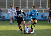 Rugby Union  - 2020 / 2021 Gallagher Premiership - Newcastle Falcons vs Gloucester - Kingston Park<br /> <br /> Adam Radwan of Newcastle Falcons avoids a tackle by Jonny May of Gloucester Rugby<br /> <br /> COLORSPORT/BRUCE WHITE