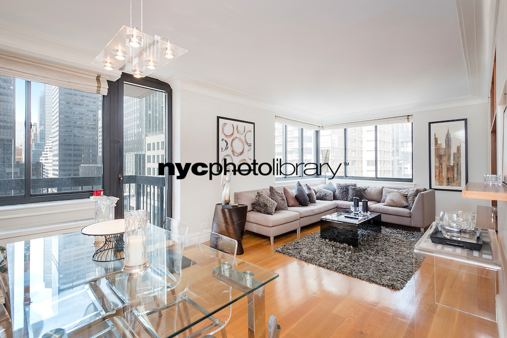 Living Room at 250 East 40th Street