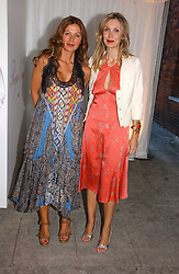 Left to right, SUSANNAH KAPOOR and ALLEGRA HICKS at a party to celebrate the opening of Roger Vivier in London held at The Orangery, Kensington Palace, London on 10th May 2006.<br /><br />NON EXCLUSIVE - WORLD RIGHTS