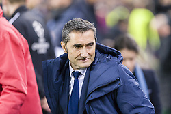 December 5, 2017 - Barcelona, Catalonia, Spain - FC Barcelona coach Ernesto '' txingurri '' Valverde during the match between FC Barcelona - Sporting CP, for the group stage, round 6 of the Champions League, held at Camp Nou Stadium on 5th December 2017 in Barcelona, Spain. (Credit Image: © NurPhoto via ZUMA Press)