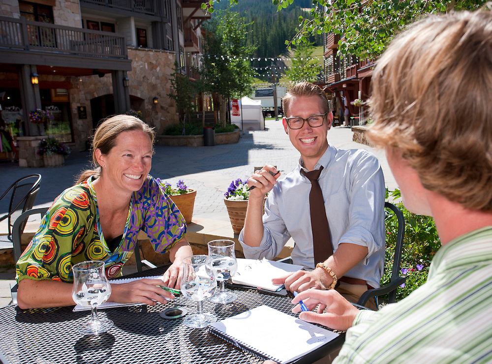 Business Lunch Meeting. Copper Mountain, Colorado