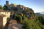 Early morning in the village of Civitella d'Agliano, Viterbo, Lazio, Italy