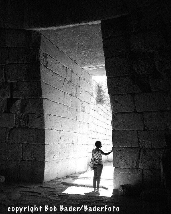 Tomb doorway from inside