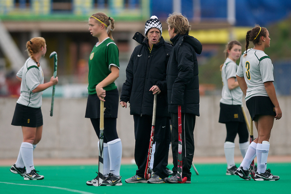The field hockey game between the Boston Terriers and the Vermont Catamounts at Moulton Winder Field on October 22, 2011 in Burlington, Vermont