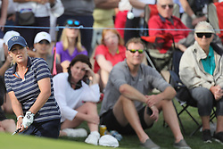 March 23, 2019 - Phoenix, AZ, U.S. - PHOENIX, AZ - MARCH 23:  Cristie Kerr pitches out of the rough on the eighteenth hole during the third round of the Bank of Hope LPGA Golf Tournament at the Wildfire Golf Club on March 23, 2019, at JW Marriott Phoenix Desert Ridge Resort & Spa in Phoenix, Arizona. (Photo by Will Powers/Icon Sportswire) (Credit Image: © Will Powers/Icon SMI via ZUMA Press)