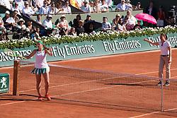 Jelena Ostapenko. Jelena Ostapenko Vs Timea Bacsinsky. Jelena Ostapenko win 1/2 final during French Tennis Open at Roland-Garros arena on June 08, 2017 in Paris, France. Photo by Nasser Berzane/ABACAPRESS.COM