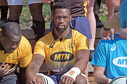 JOHANNESBURG, SOUTH AFRICA MAY 28: Springbok captain Siya Kolisi during training on 28 May 2018 in Johannesburg South Africa. Both Pieter-Steph du Toit and Siya Kolisi were announced by Springboks coach Rassie Erasmus as captains ahead of upcoming international games against Wales and England, the Springbok captaincy is a first for both players. They attended a training session with the Springbok rugby squad and coaching staff at St Stithians School. (Photo by Dino Lloyd)
