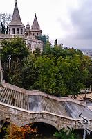 Budapest, Hungary.  The Halászbástya or Fisherman's Bastion on the Castle Hill.