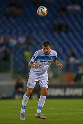 September 20, 2018 - Rome, Lazio, Italy - 20th September 2018, Stadio Olimpico, Rome, Italy; UEFA Europa League football, Lazio versus Apollon Limassol; Francesco Acerbi of Lazio controls the ball  Credit: Giampiero Sposito/Pacific Press (Credit Image: © Giampiero Sposito/Pacific Press via ZUMA Wire)
