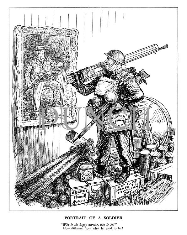 """Portrait of a Soldier. """"Who is the happy warrior, who is he?"""" How different from what he used to be!"""