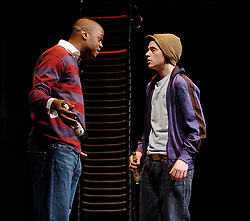 Citizenship<br /> at the Cottesloe Theater, London, Great Britain<br /> March 14, 2006<br /> press photocall<br /> <br /> Javone Prince - left<br /> Sid Mitchell - right<br /> <br /> photograh by Elliott Franks