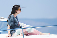 Victoria Federica de Marichalar on board of the Somni during the 37th Copa Del Rey Mafre Sailing Cup on July 30, 2018 in Palma, Spain
