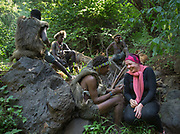 Hunting with Gnogna and friends. Staying in Mandagao camp in Mangola, a touristic destination to see the Hadza community.
