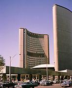 City Hall, or New City Hall, municipal government building, Toronto, Ontario, Canada, photo 1967 architect Viljo Revell built 1965