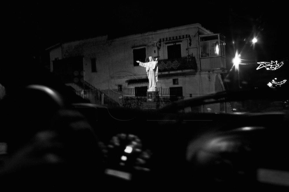 Jesus statue in Naples suburb