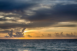 beautiful sunrise over the Atlantic Ocean in Fort lauderdale, Florida