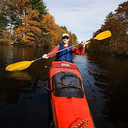 Kayaking the Nashua River in Groton, Massachusetts.
