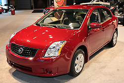 11 February 2009:  2009 NISSAN SENTRA: Year-in and year-out, Nissan's Sentra sedans offer moderate price seeking customers comfortable accommodations and enough options to keep things interesting and the price from getting out of hand. For '09 Sentra ads auto door locks, MP3 playback, a second 12V power outlet and a bit of a rear decklid lift. Standard is a 2.0 liter 140-hp four and Nissan's Xtronic Continuously Variable Transmission. Six airbags are standard including side curtain supplemental units. Options include Intelligent Key keyless entry and ignition, Bluetooth phone system and Rockford Fosgate audio system with an in-dash 6-CD changer. Sentra's cabin includes a 60/40 split double-fold rear seat, available hidden trunk storage compartment and available integrated overhead compact disc holder.<br />  The Chicago Auto Show is a charity event of the Chicago Automobile Trade Association (CATA) and is held annually at McCormick Place in Chicago Illinois.