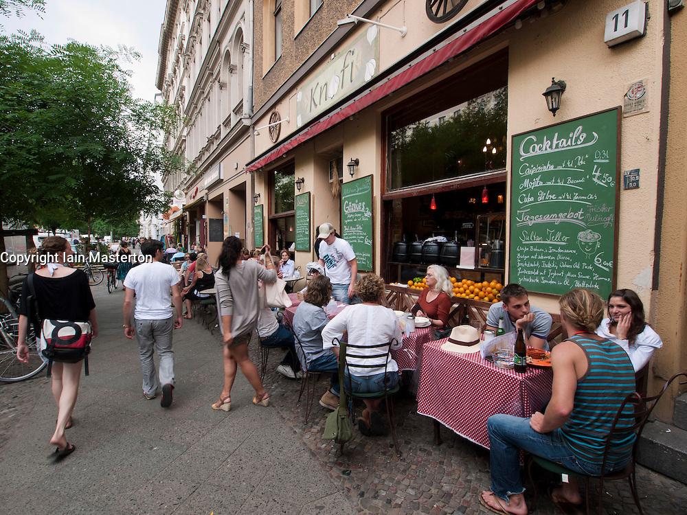 Restaurant Knofi on Bergmannstrasse in Kreuzberg district of Berlin Germany