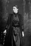 Mary Augusta Ward (Mrs Humphry Ward) 1851-1920. English novelist and social worker. Granddaughter of Thomas Arnold of Rugby; niece of Matthew Arnold. Photograph c1890. Woodburytype.
