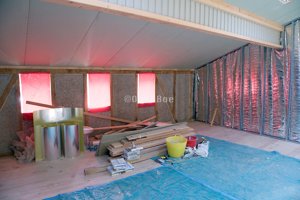 inside of house under construction